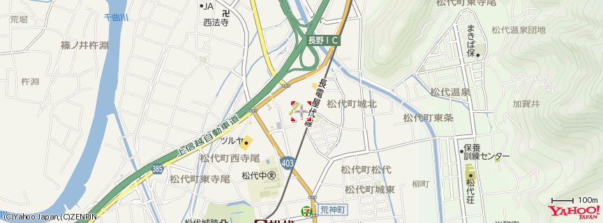 Royal Hotel 長野 《 ロイヤルホテル長野 Royal Hotel Nagano 》 地図
