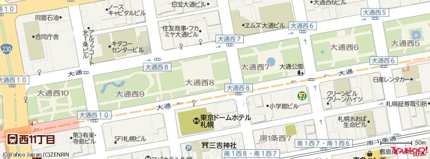 大通公園(Odori Park) 地図