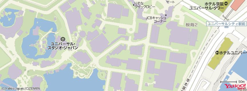 ユニバーサル・スタジオ・ジャパン (Universal Studios Japan, USJ) 地図