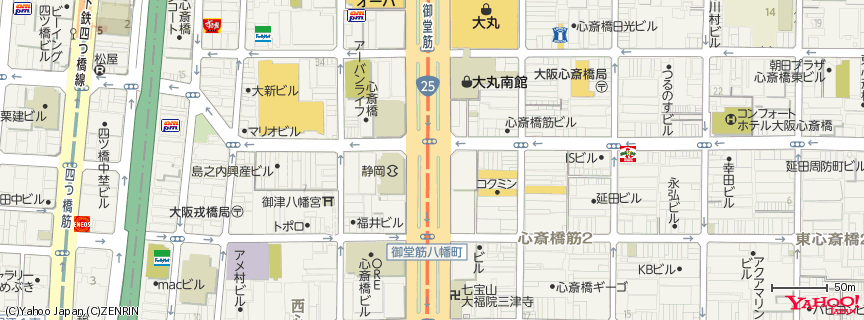 Apple Store 心斎橋 地図