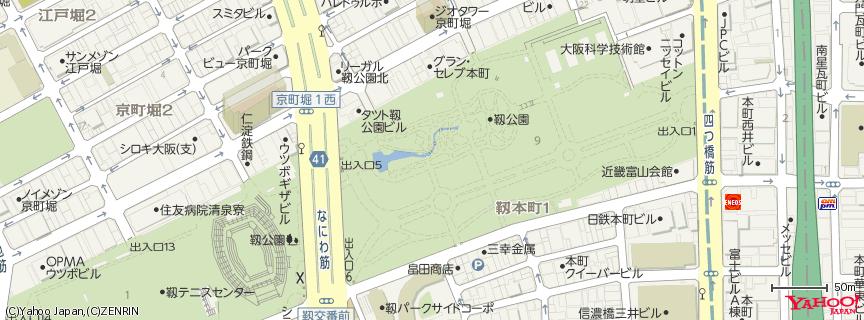 靱公園 地図