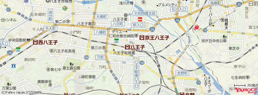八王子駅 地図