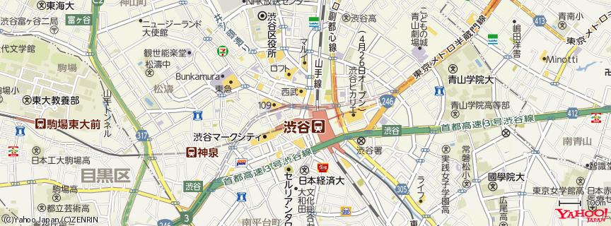 渋谷駅 Shibuya Station 地図