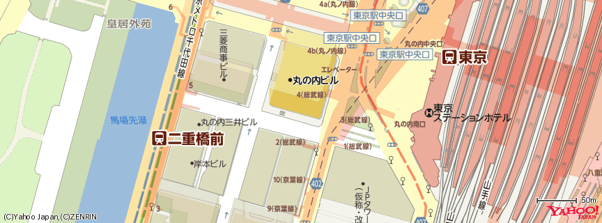 丸の内ビルディング 地図