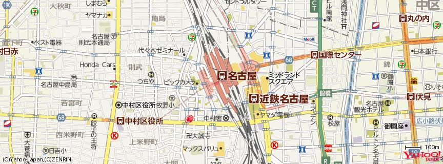 名古屋駅 Nagoya Station 地図