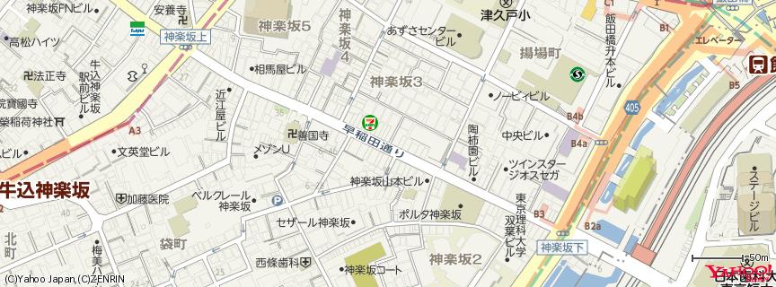 神楽坂 地図