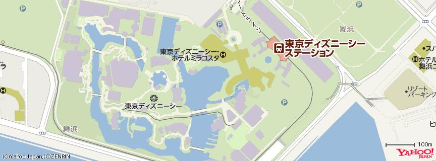 東京ディズニーシー / Tokyo Disney Sea 地図