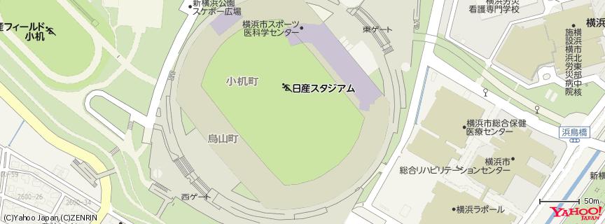 日産スタジアム Nissan Stadium 地図