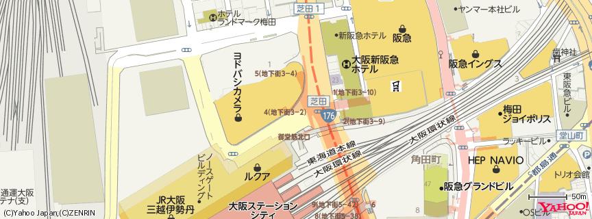 ヨドバシカメラ マルチメディア梅田 地図