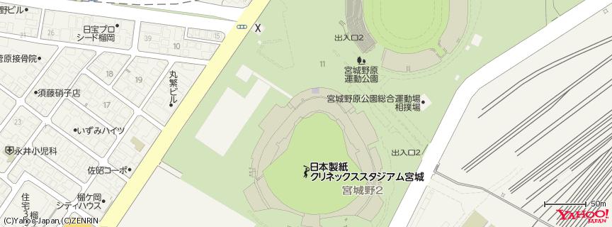 Koboパーク宮城 地図