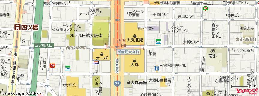 大丸心斎橋店 地図