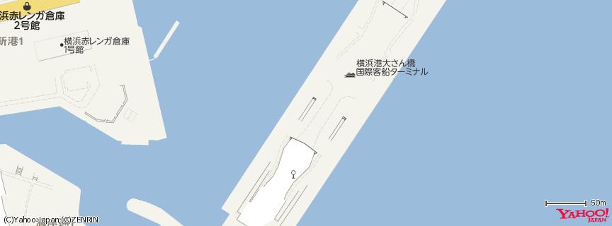 横浜港大さん橋国際客船ターミナル 地図