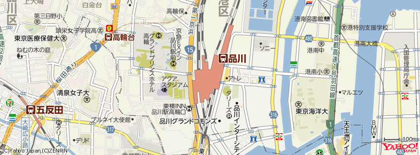 品川駅 (Shinagawa Station) 地図