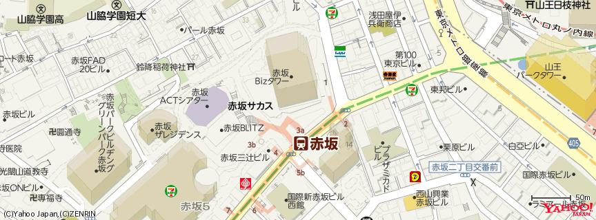 赤坂Bizタワー Akasaka Biz Tower 地図
