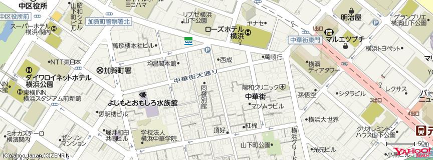 横浜中華街 地図