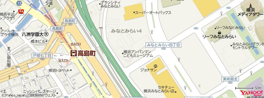 横浜アンパンマンこどもミュージアム 地図