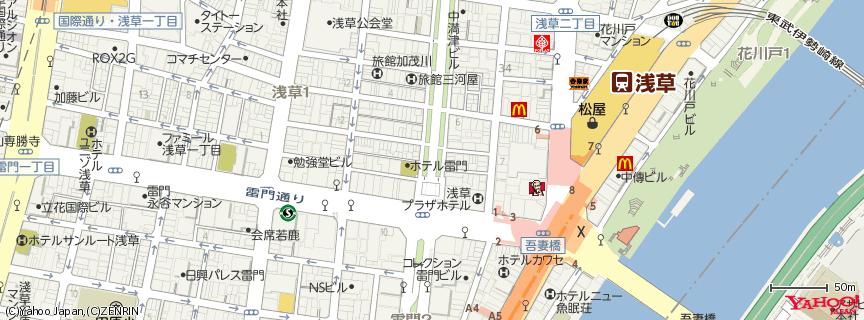 浅草寺 雷門 (Kaminarimon Gate) 地図