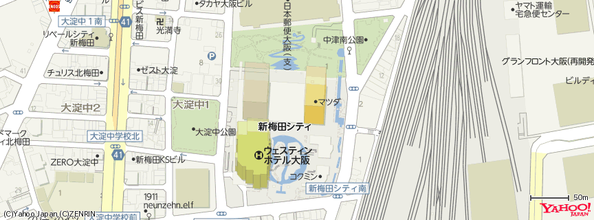 梅田スカイビル(Umeda Sky Building) 地図