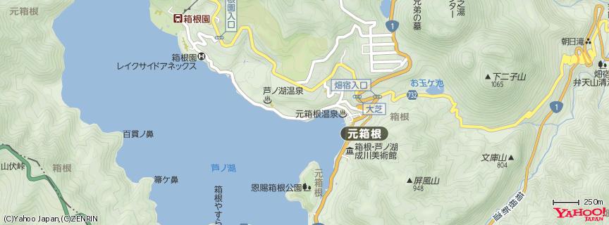 箱根神社(九頭龍神社) 地図