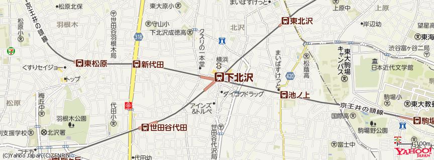 下北沢駅 地図