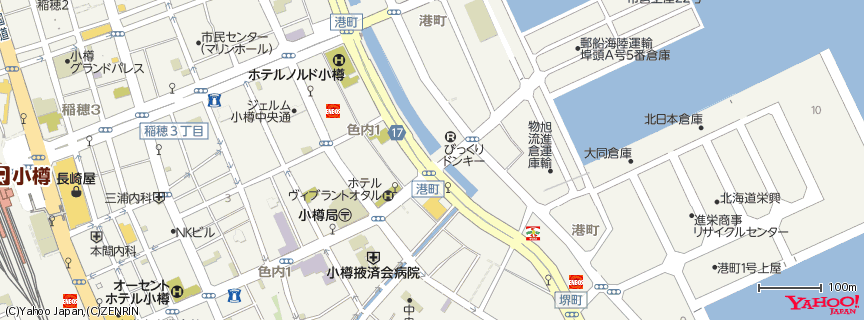 小樽運河 地図