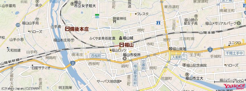 福山駅 地図
