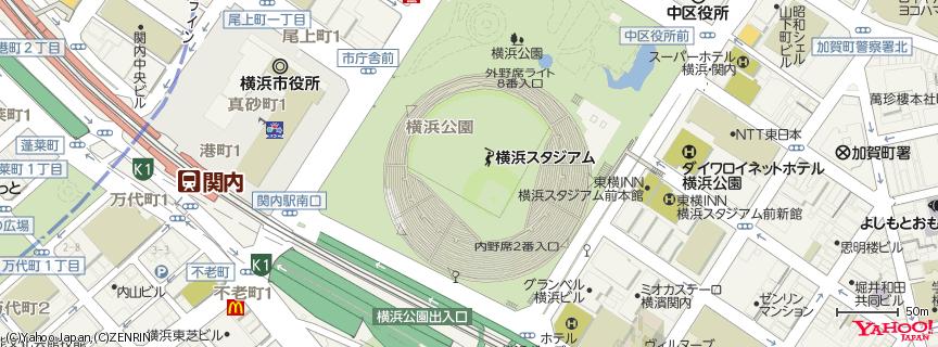 横浜スタジアム 地図