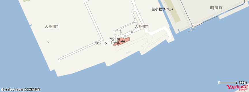 苫小牧フェリーターミナル(苫小牧西港) 地図
