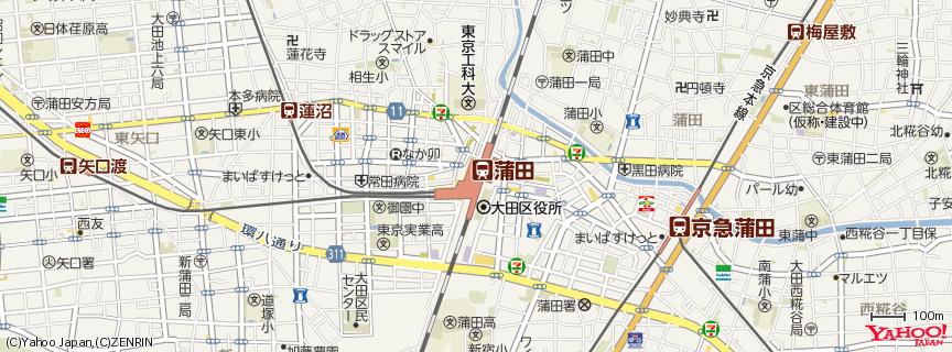蒲田駅 地図