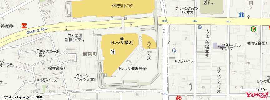 トレッサ横浜 地図