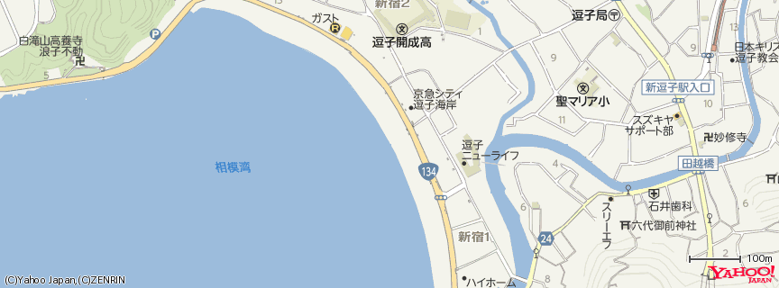 Zushi Beach 地図