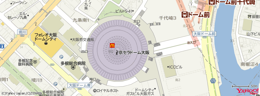 京セラドーム大阪 地図