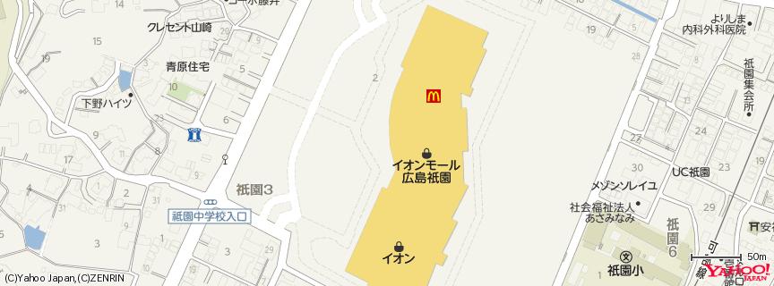 イオンモール広島祇園店 地図