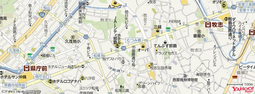 国際通り Kokusai Street 地図