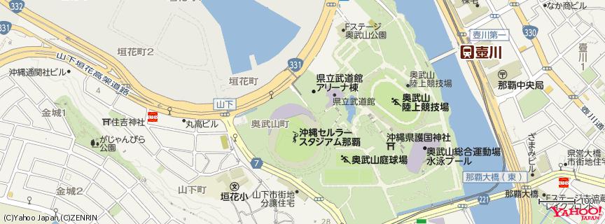 沖縄セルラースタジアム那覇 地図