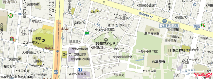 浅草花やしき 地図