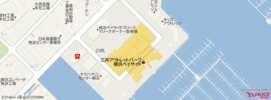 三井アウトレットパーク 横浜ベイサイド 地図