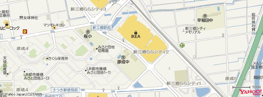 IKEA 新三郷店 地図