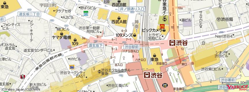 ロクシタンカフェ渋谷 地図