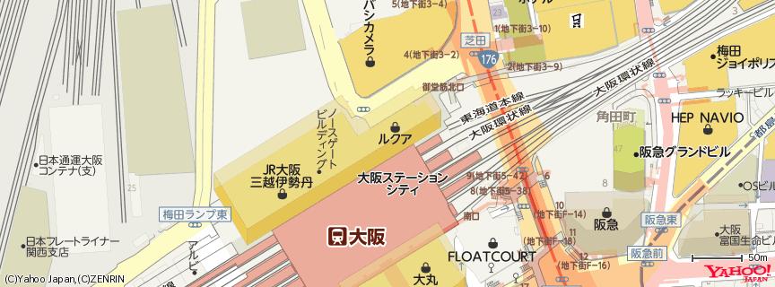 ルクア (LUCUA) 地図