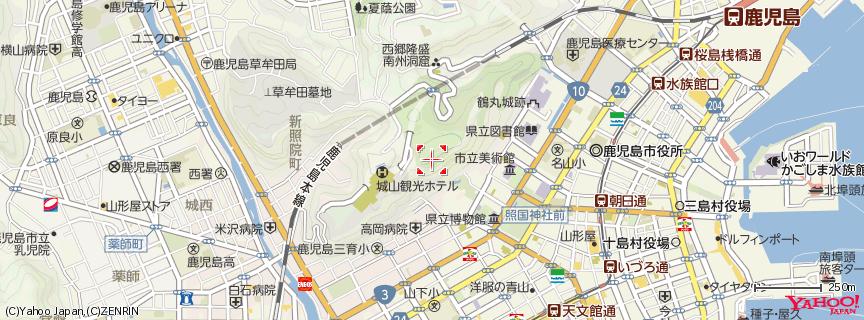 城山展望台 地図