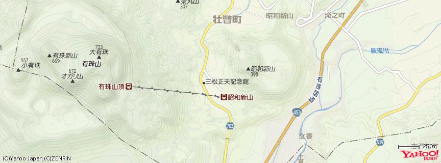 昭和新山 地図
