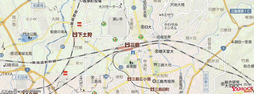 三島駅 地図