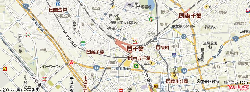 千葉駅 地図