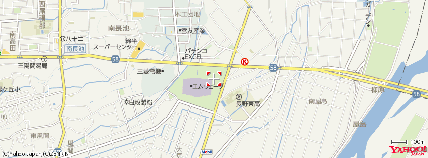 長野市オリンピック記念アリーナ 地図