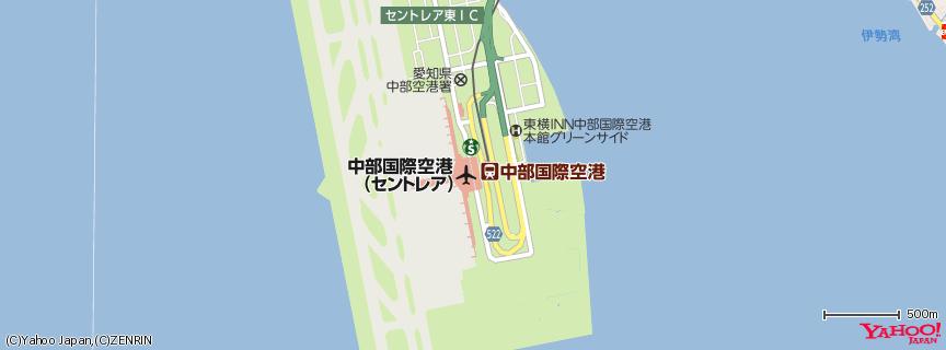 中部国際空港 セントレア 地図