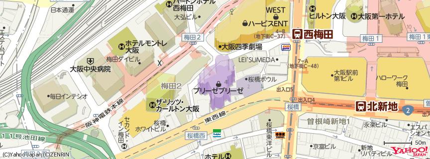 ブリーゼブリーゼ 地図