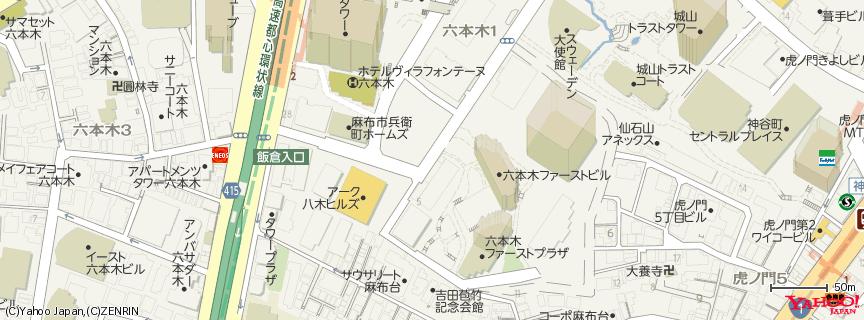 ラフォーレミュージアム六本木 地図