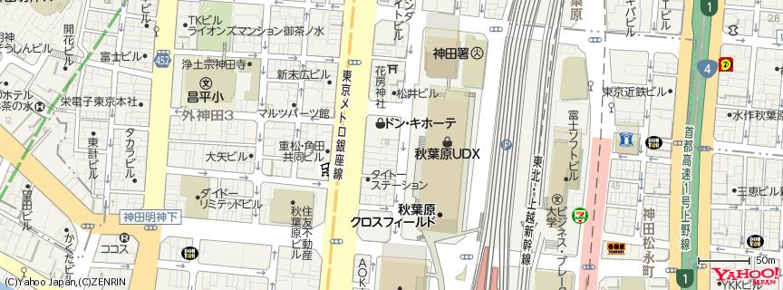 AKB48劇場 地図