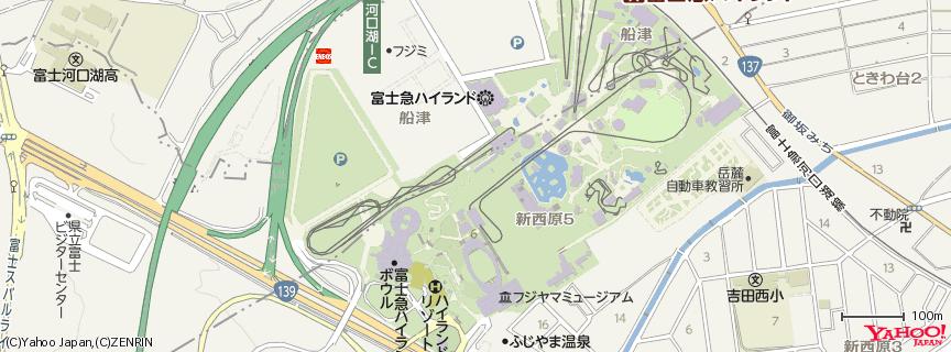 富士急ハイランド 地図
